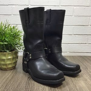 Adtec | Harness Leather Motorcycle Black Boot